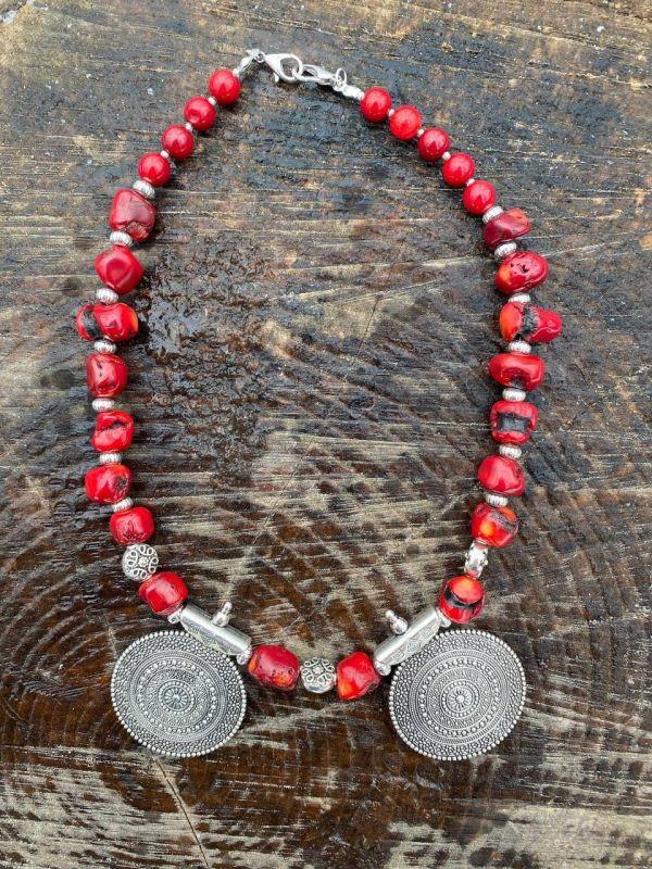 Чары мольфара Красный Ожерелье из дикого коралл Федоришин Татьяна - фото 3