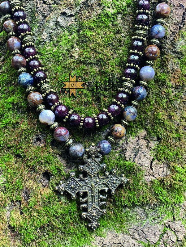 Кудрявый крест в сочетании с солнечным гранатом Разноцветный Згарда «кудрявый крест» а Федоришин Татьяна - фото 3