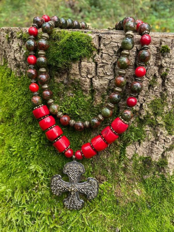 Кровь дракона Красный Коралл, яшма, металлическ Федоришин Татьяна - фото 1