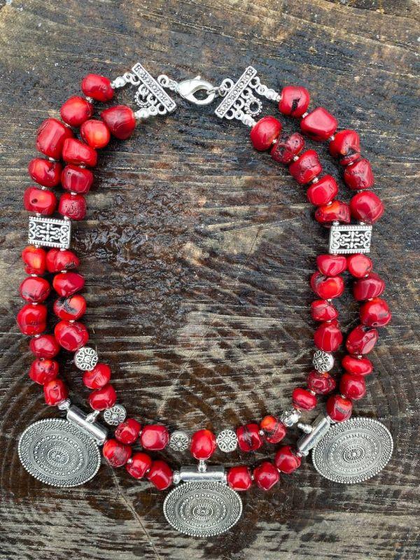 Чары мольфара Красный Ожерелье из дикого коралл Федоришин Татьяна - фото 4
