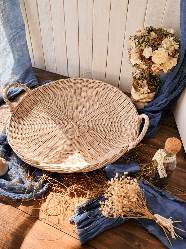Плетеный поднос  Бумажная лоза Филык Любовь - фото 1