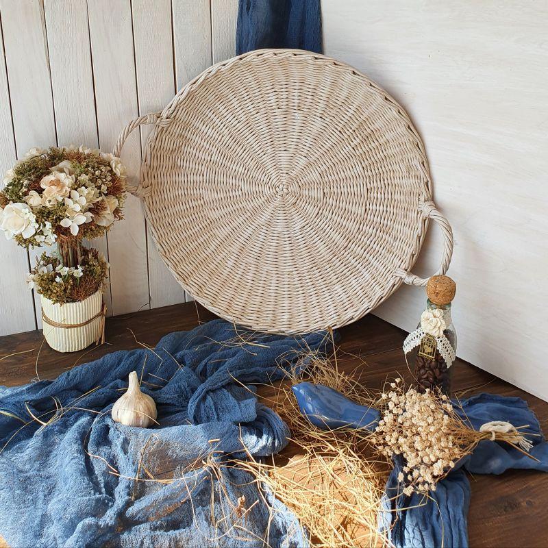Плетеный поднос  Бумажная лоза Филык Любовь - фото 3