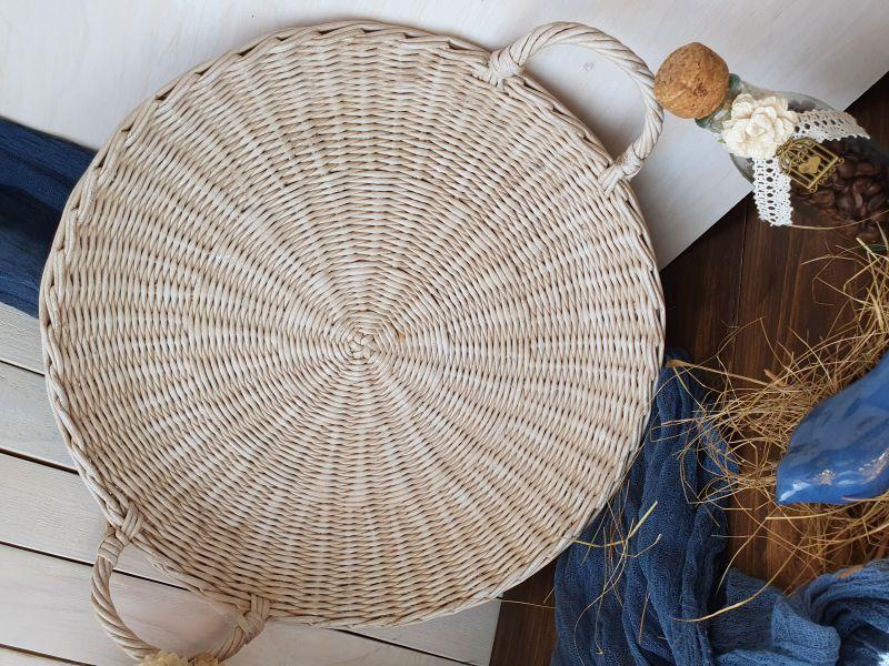 Плетеный поднос  Бумажная лоза Филык Любовь - фото 2