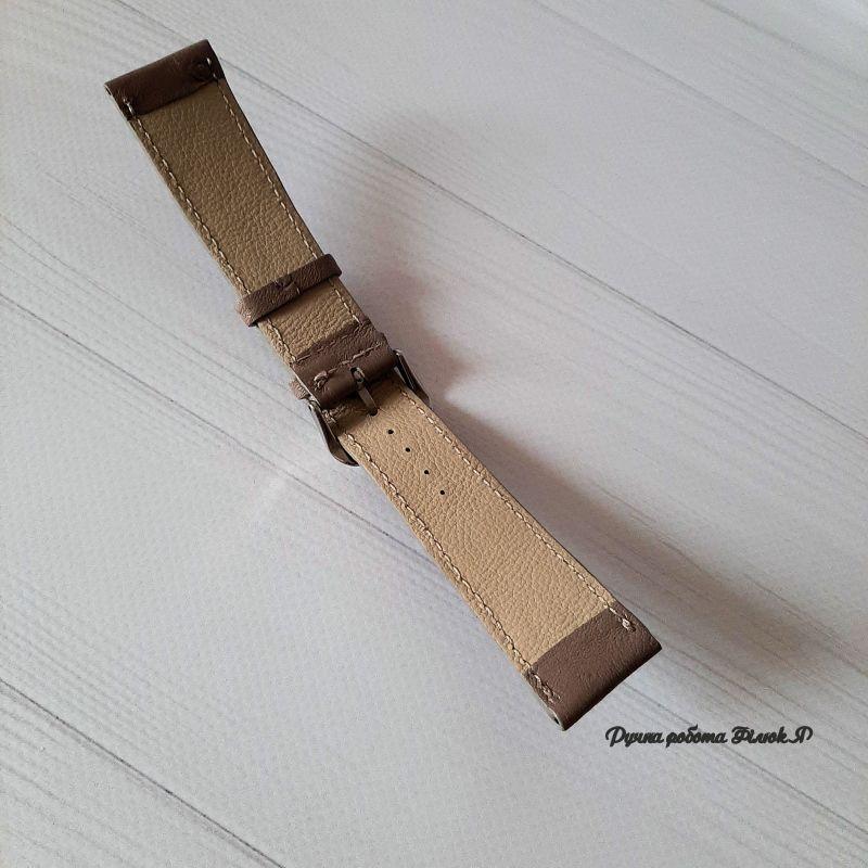 Ремешок для часов Коричневый Натуральная кожа страуса Филюк Яна - фото 2