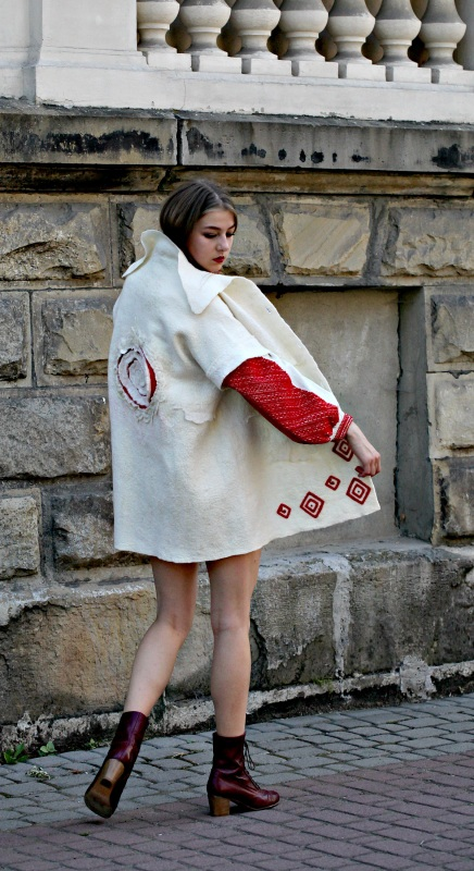 """Жакет-кардиган """"Франция"""" Белый шерсть австралийских мери Галамага Виктория - фото 5"""