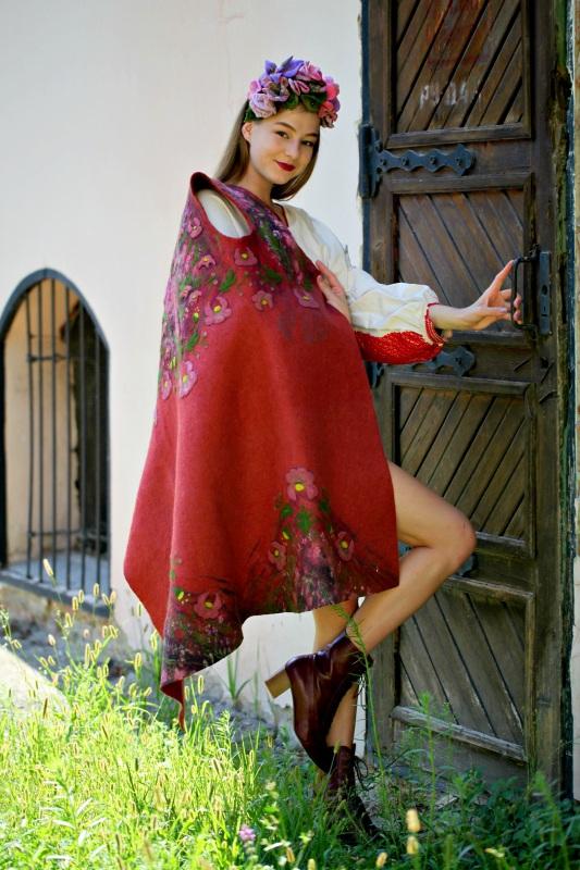 """Кардиган """"Весна"""" Красный вовна австралійських мери Галамага Виктория - фото 1"""