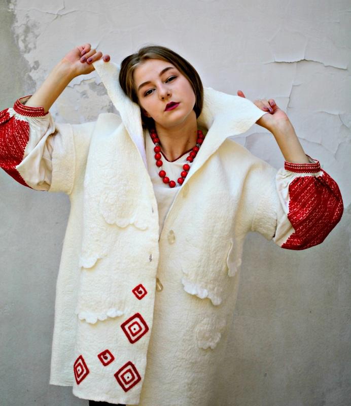 """Жакет-кардиган """"Франция"""" Белый шерсть австралийских мери Галамага Виктория - фото 4"""