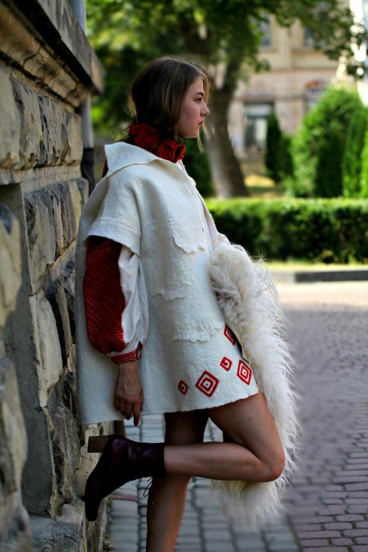 """Жакет-кардиган """"Франция"""" Белый шерсть австралийских мери Галамага Виктория - фото 3"""