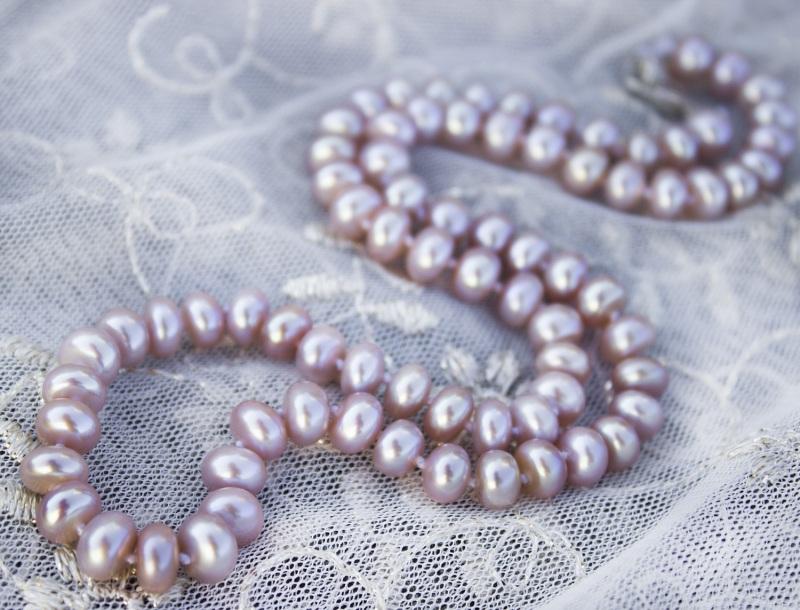 Серебро и натуральный жемчуг лавандовый комплект Фиолетовый натуральный жемчуг, сереб Гармаш Елена - фото 4