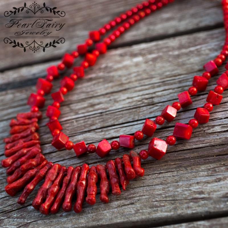 Ожерелье из натуральных кораллов Надра Красный натуральные кораллы, мета Гармаш Елена - фото 2