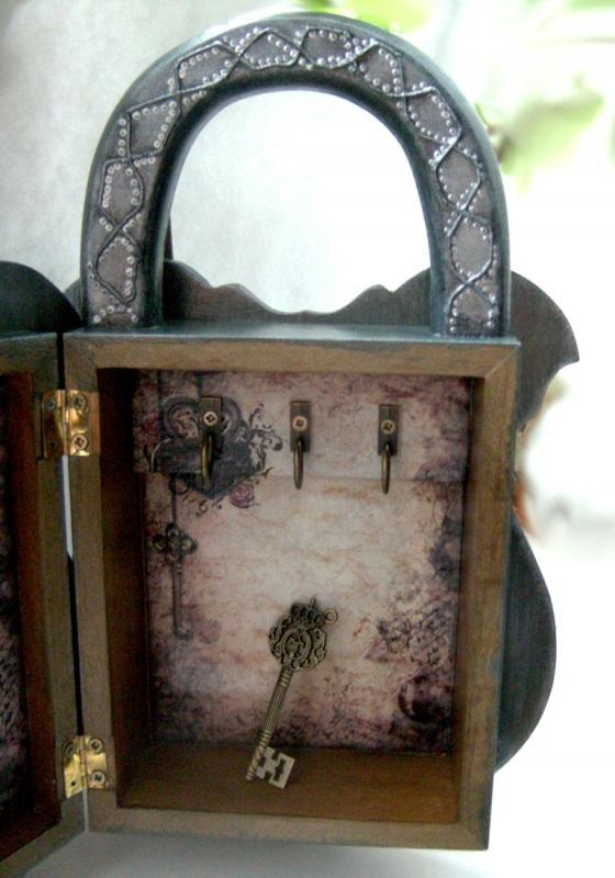 Ключница Замок  заготовка из дерева, акри Гемолдинова Наталья - фото 2