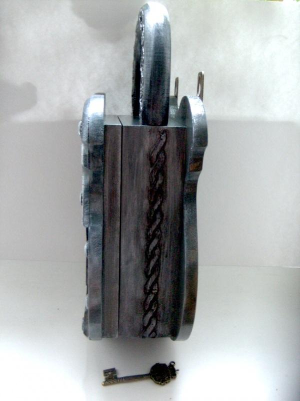 Ключница Замок  заготовка из дерева, акри Гемолдинова Наталья - фото 5