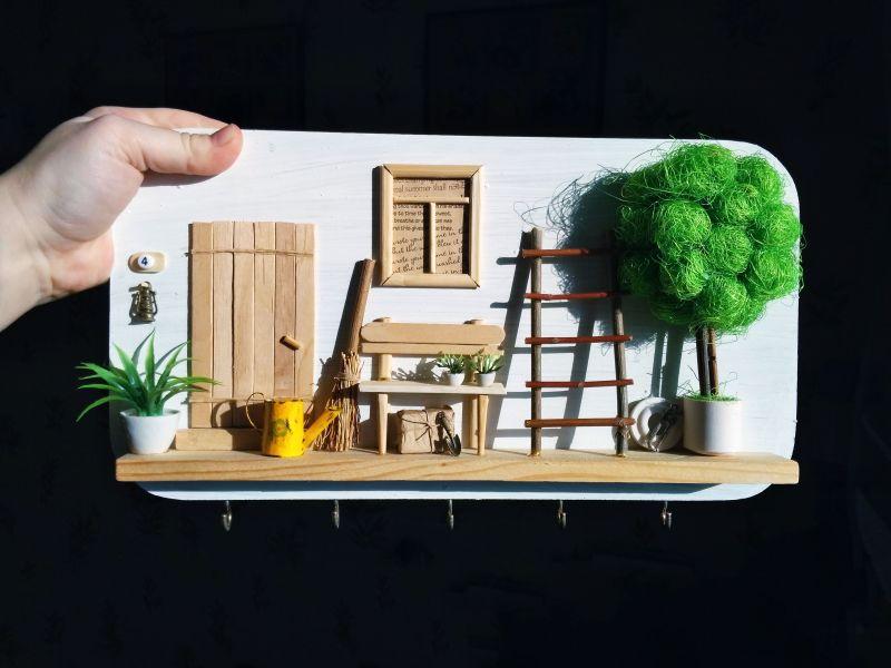"""Ключница (вешалка) в стиле прованс """"Manoir en Provence""""  деревянная основа, акрило Герасименко Юлия - фото 1"""