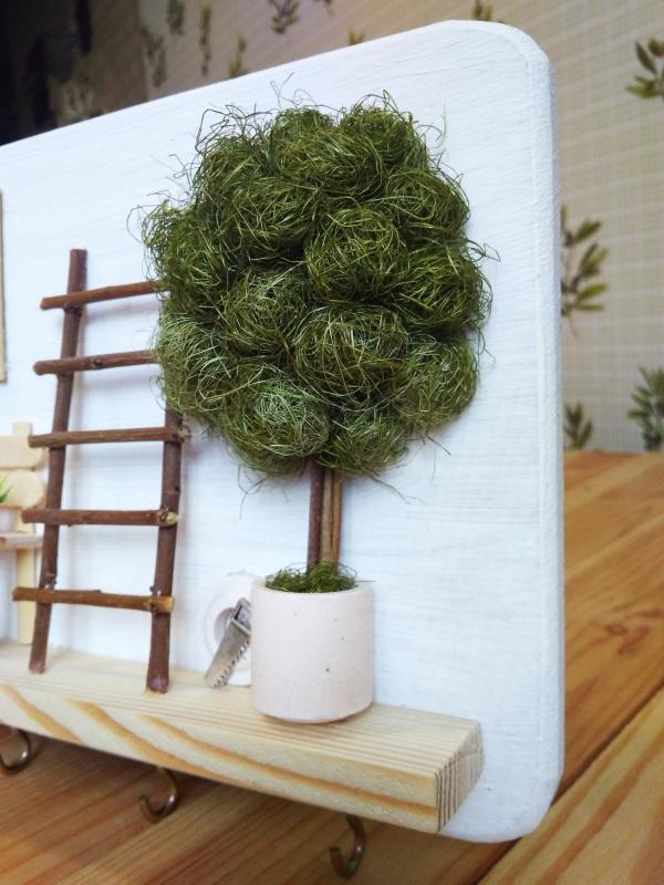 """Ключница (вешалка) в стиле прованс """"Manoir en Provence""""  деревянная основа, акрило Герасименко Юлия - фото 5"""