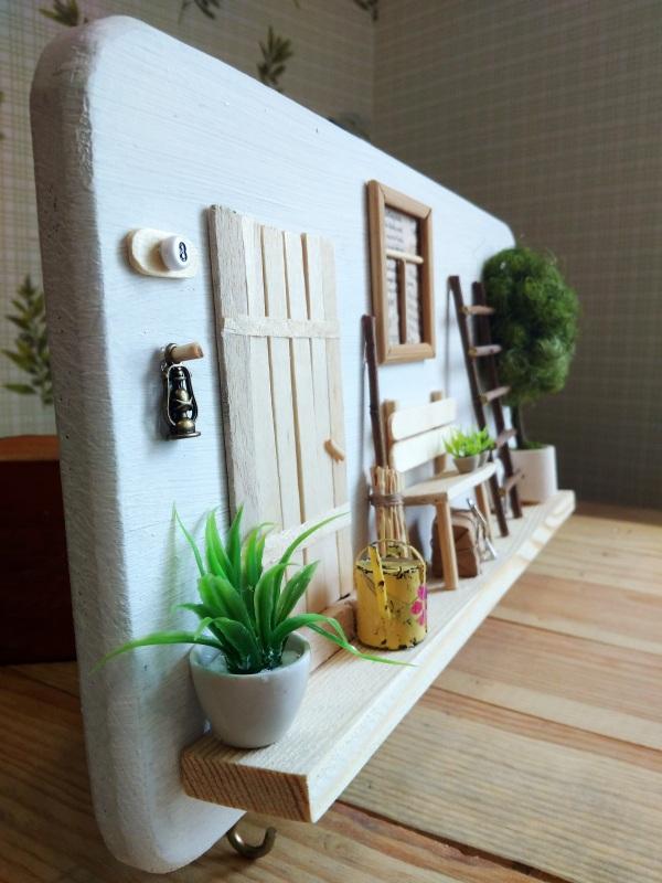 """Ключница (вешалка) в стиле прованс """"Manoir en Provence""""  деревянная основа, акрило Герасименко Юлия - фото 10"""