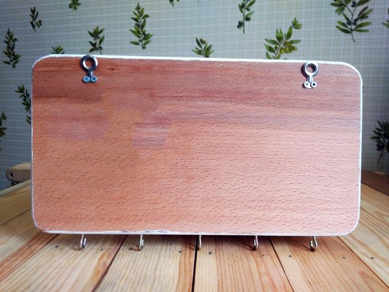 """Ключница (вешалка) в стиле прованс """"Manoir en Provence""""  деревянная основа, акрило Герасименко Юлия - фото 3"""