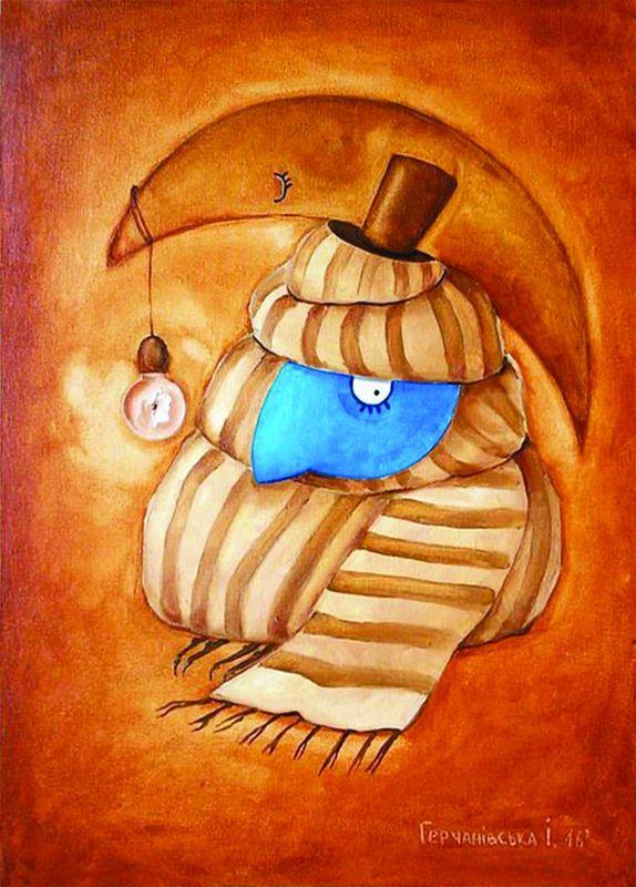 Джентльмен  полотно на двп, масляные Герчанивская Ирина - фото 1