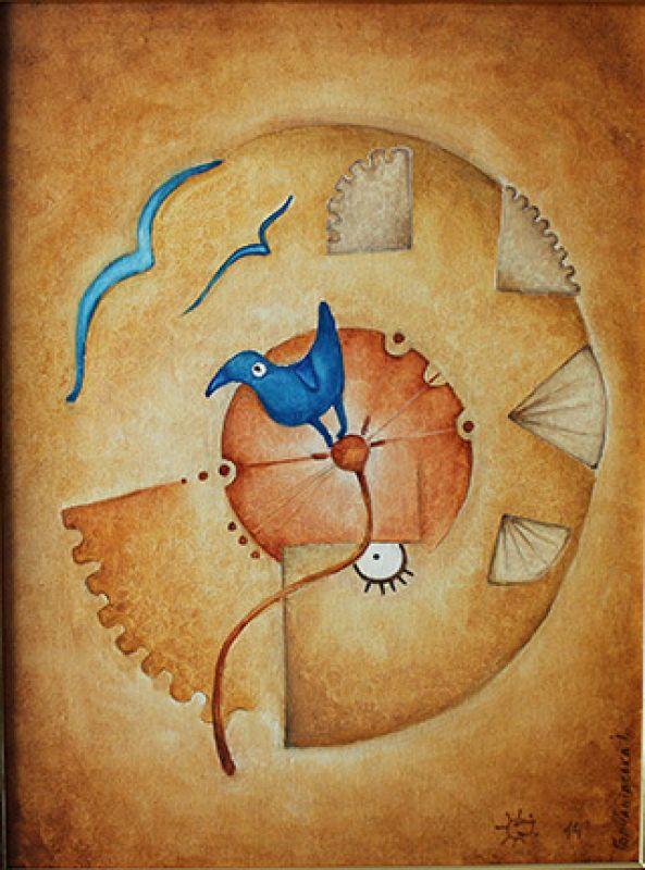 Месяц времени  Полотно на двп, масляные Герчанивская Ирина - фото 1