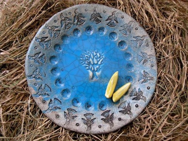 Тарель Синий Керамика, Поливы Горлова Леся - фото 1