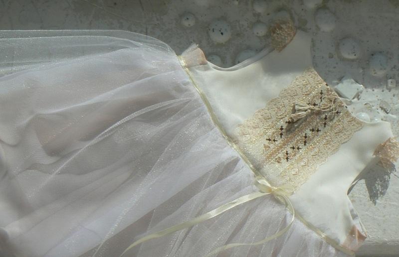Платье 24-36 мес. Белый Хлопок / шерсть / атлас / Горича Татьяна - фото 1