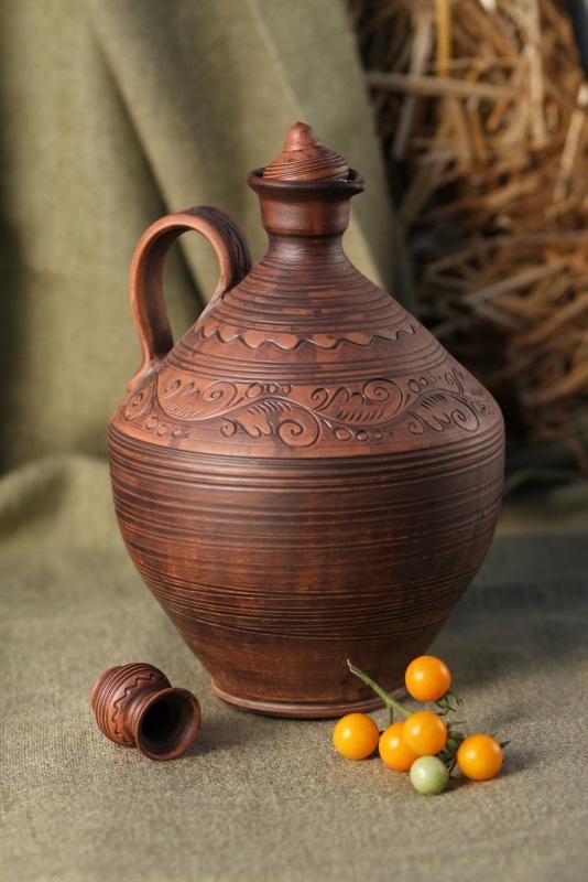 Бутыль для домашнего вина  Глина Гошовский Виталий - фото 1