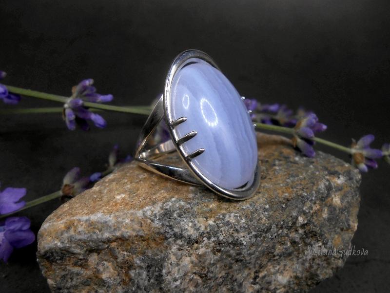 Серебряное кольцо Голубой Лед.  сапфирин, серебро 925 пр. Гудкова Светлана - фото 2
