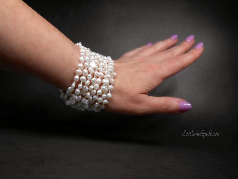 Жемчужный браслет Зефир  природный жемчуг Гудкова Светлана - фото 4