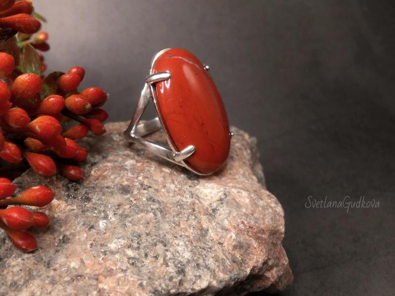 Талисман  Красная яшма, серебро 925 Гудкова Светлана - фото 5