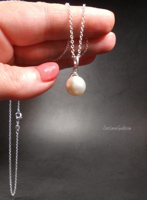 Комплект Жемчужный  природный жемчуг, серебро Гудкова Светлана - фото 5