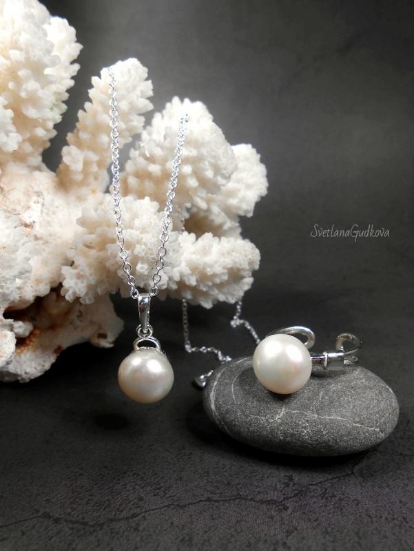Комплект Жемчужный  природный жемчуг, серебро Гудкова Светлана - фото 1