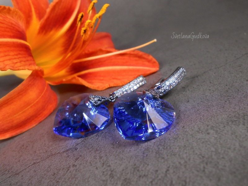 Ультрамарин  оригинальные кристаллы Sw Гудкова Светлана - фото 2