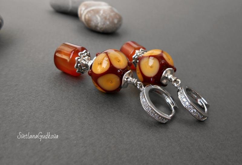 Комплект Лакомка Разноцветный натуральный камень - серд Гудкова Светлана - фото 5
