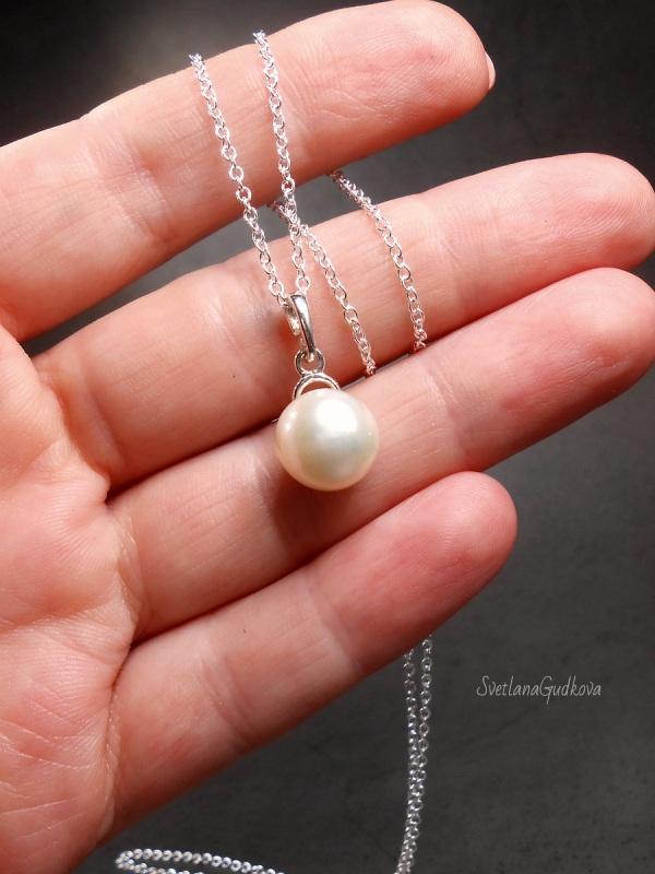 Комплект Жемчужный  природный жемчуг, серебро Гудкова Светлана - фото 6