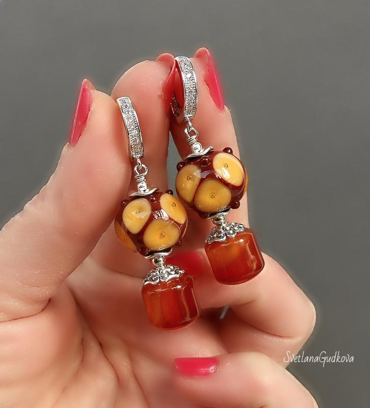 Комплект Лакомка Разноцветный натуральный камень - серд Гудкова Светлана - фото 3