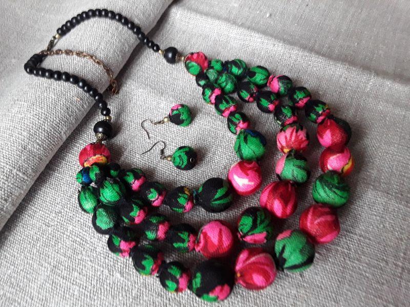 Терновое, черное Разноцветный Украинский платок,кость,л Гушинец Галина - фото 3