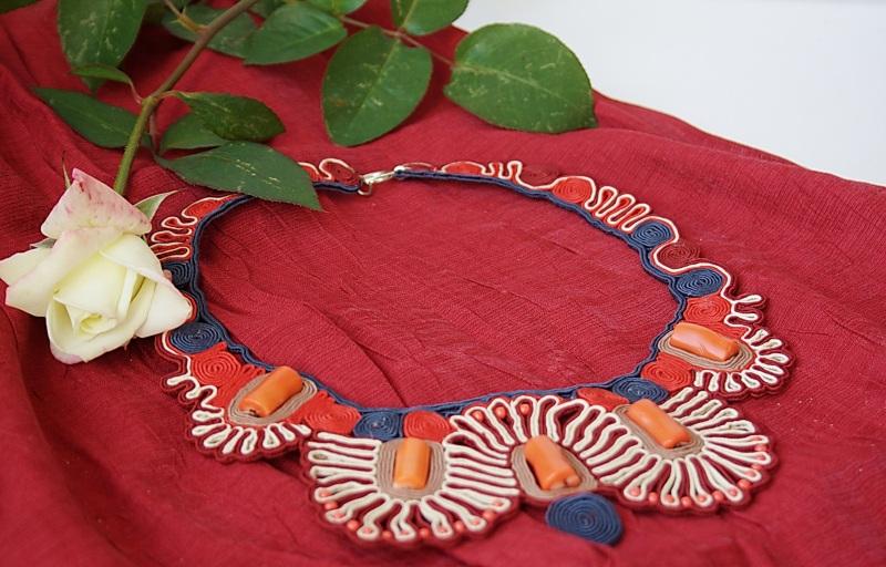 Этно Красный Сутаж, кораллы Харабара Екатерина - фото 2