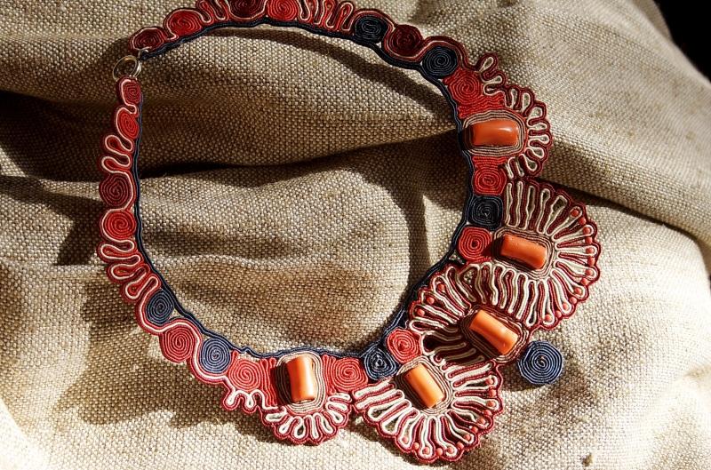 Этно Красный Сутаж, кораллы Харабара Екатерина - фото 3