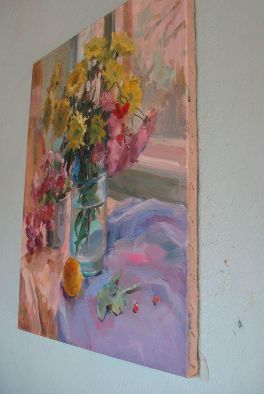 Хризантеми  Холст, масло Храмова Надежда - фото 2