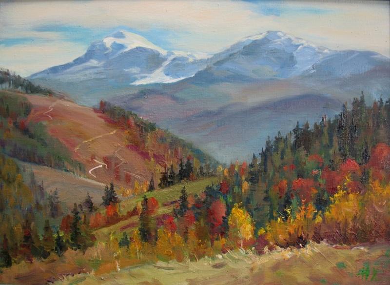 Осень на Черногоре  холст, масло Храмова Надежда - фото 1