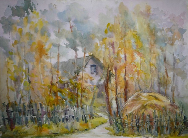 Осеннее настроение  бумага, акварель Клочко Ольга - фото 1