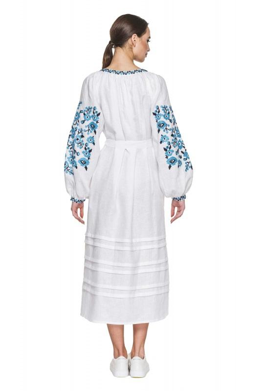 """Платье вышиванка белая """"Флора"""" Белый 100% высококачественный л BAZENA - фото 2"""