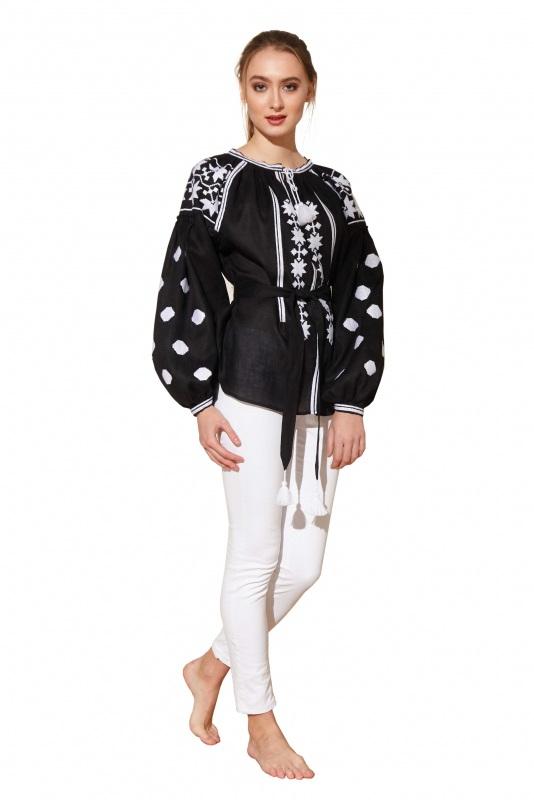 """Блуза вишиванка """"Берегиня"""" Черный 100% высококачественный л BAZENA - фото 1"""