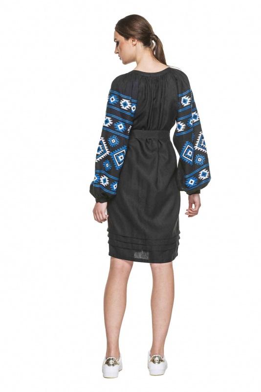 """Платье вышиванка черная """"Карпаты"""" Черный 100% высококачественный л BAZENA - фото 3"""