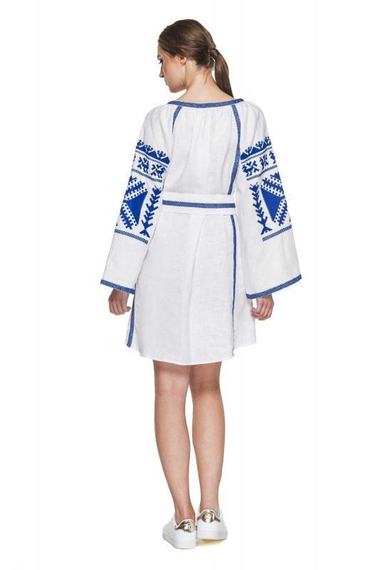 """Платье вышиванка белая """"Жар-птица"""" Белый 100% высококачественный л BAZENA - фото 3"""