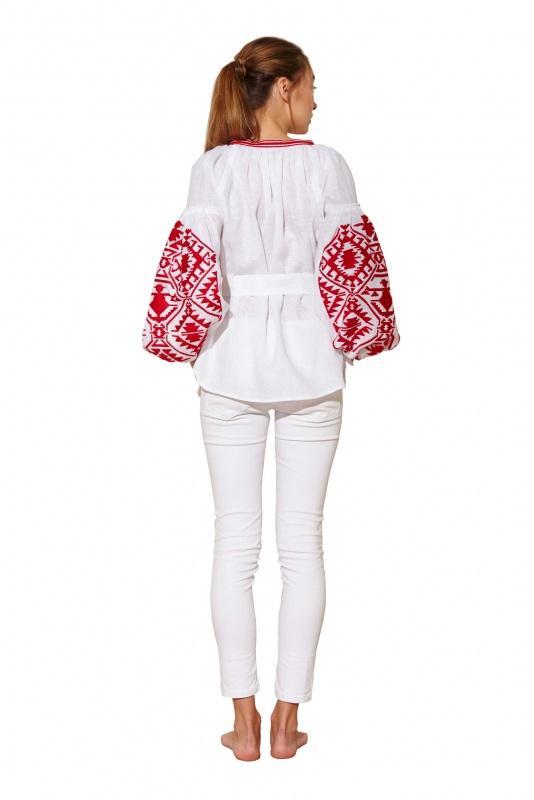"""Блуза вышиванка """"Дерево рода"""" Белый 100% высококачественный л BAZENA - фото 2"""