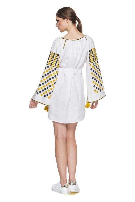 """Платье-вышиванка """"Бажена"""" Белый 100% высококачественный л BAZENA - фото 3"""