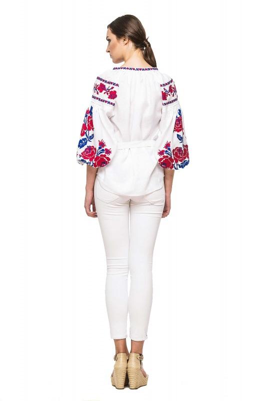 """Блуза вышиванка """"Маричка"""" Белый 100% высококачественный л BAZENA - фото 2"""