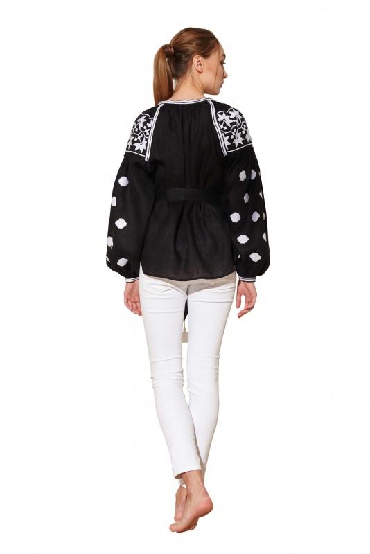 """Блуза вишиванка """"Берегиня"""" Черный 100% высококачественный л BAZENA - фото 2"""