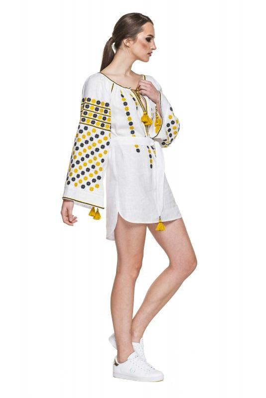 """Платье-вышиванка """"Бажена"""" Белый 100% высококачественный л BAZENA - фото 2"""