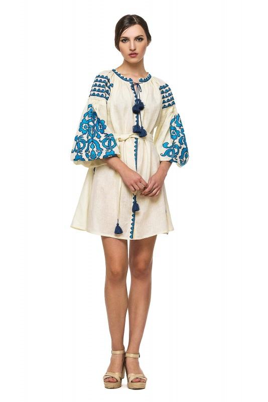 """Платье-вышиванка """"Бажена""""  100% высококачественный л BAZENA - фото 1"""